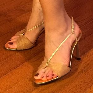 Sexy gold shoes